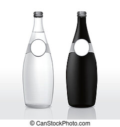 glass bottle with blank label
