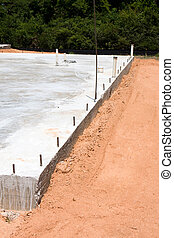 Concrete Slab - A concrete construction slab is ready for to...