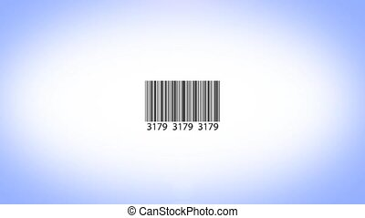 Barcode id scanning, animation