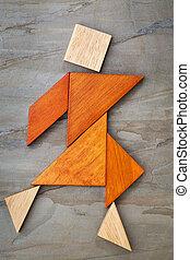 tangram, Dançar, figura