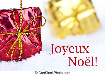 Joyeux Nol in the Snow - The French Christmas Greetings...