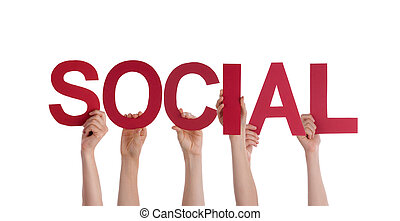 People Holding Social