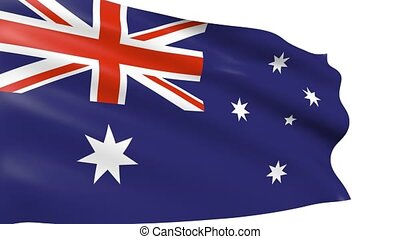 Australian Flag waving, animation