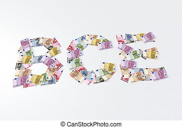 euro symbol with bank notes
