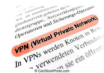 virtuale, privato, rete, (VPN)