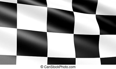 Checkered flag, animation