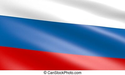 Russian Flag waving, animation