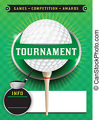 Golf Tournament Template Illustration - An illustration for...