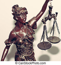 lady justice or themis - close up image of lady justice or...