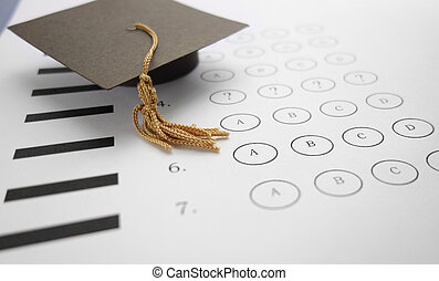 exam question - Multiple choice exam with mini graduation...