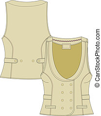 womans tailor  fitted vest
