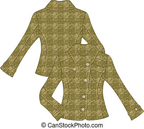 womans tailor  fitted camouflage ja
