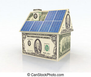 financing for photovoltaic system - money home with solar...