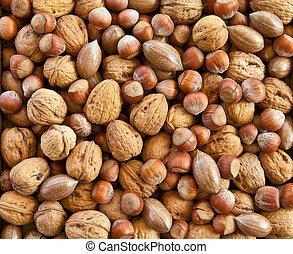 Variety of nuts - Varitey of nuts like walnuts, pecans and...