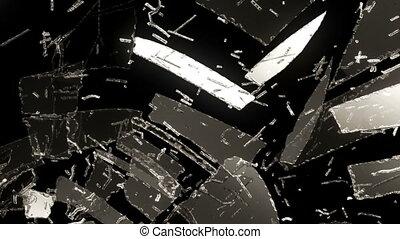 Glass broken or shattered slowmo - Glass broken or shattered...