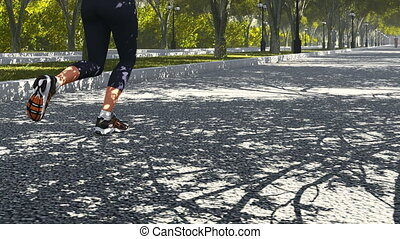 Young woman jogging in the park 2 - Realistic three...