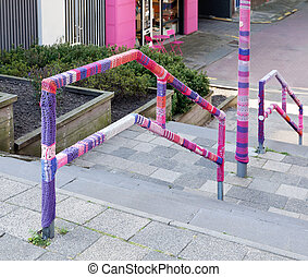 urban knitting street art - urban knitting is a type of...