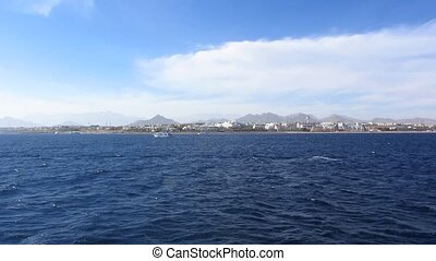 Red Sea coast - Coast Sharm El Sheikh, view from the sea to...