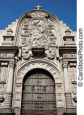 Jesuit Church - Entry to the historic Jesuit church Iglesia...