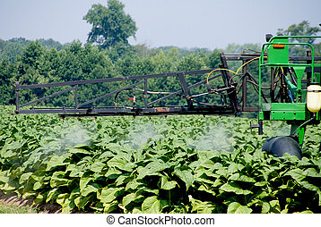 Crop Sprayer - A large commercial crop spraying farm...
