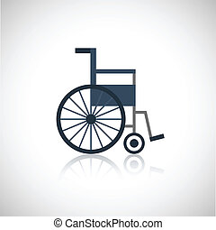 Wheel chair icon flat - Wheel chair medical pensioners care...