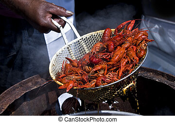 Louisiana Crawfish - A portion of freshly boiled Crawfish...