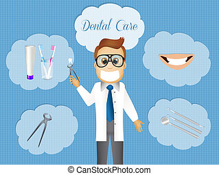 Dental care - illustration of dental care