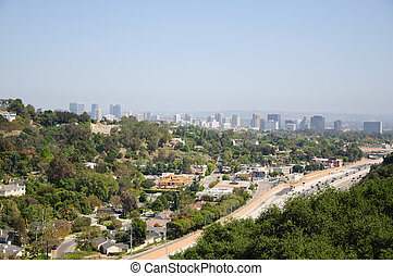 Beautiful view of Los Angeles city