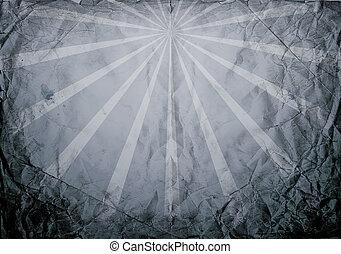 Retro Dark Sunburst Paper Texture