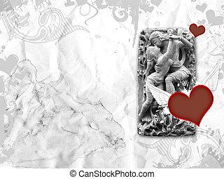 Romantic Sculpture Paper Texture - Vintage Romantic Statue...