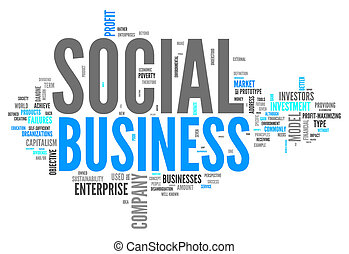 Word Cloud Social Business - Word Cloud with Social Business...