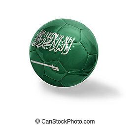 Saudi Arabia Football - Football ball with the national flag...