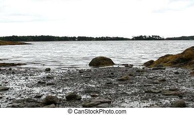 Rocky coast line in Maine USA