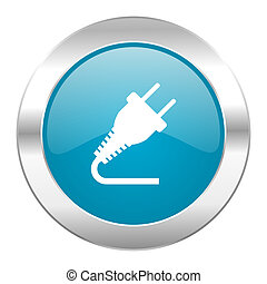 plug internet blue icon