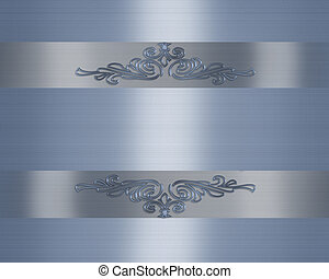 Wedding Anniversary invitation blue satin - 3D Illustrated...