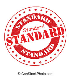 Standard - Stamp with word standard inside, vector...