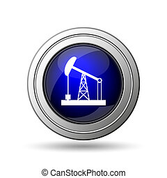 Oil pump icon Internet button on white background