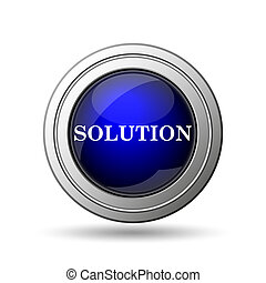 Solution icon. Internet button on white background.