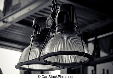 Lamps hanging on the wall