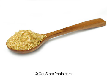 Sugar in wooden spoons