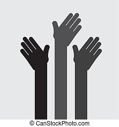 hands up design , vector illustration