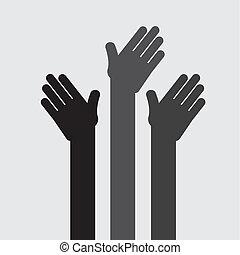 hands up design , vector illustration