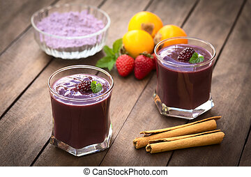 Ecuadorian Drink Called Colada Morada - Ecuadorian...