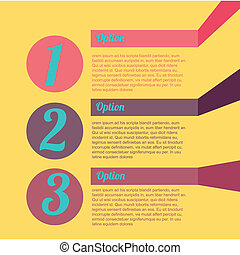 infographic design - numbers infographic design , vector...