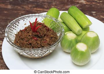 Nam Prig Ma-kham,Thaifood - Chilli Tamarind Sauce Dip