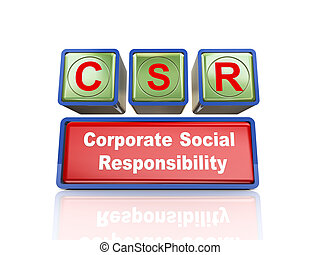 3d boxes of concept of csr
