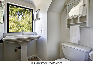 Old bathroom with window