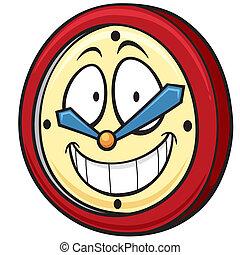 Clock - Vector illustration of Cartoon clock