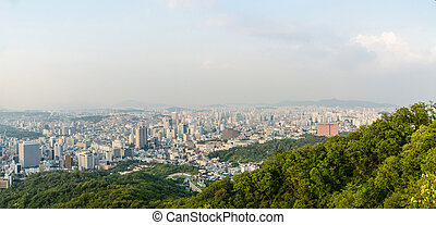 Panorama view of seoul city ,south korea