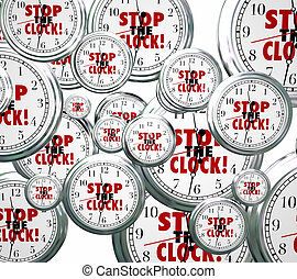 Stop the Clock Words Free Time Out Pause Break - Stop the...